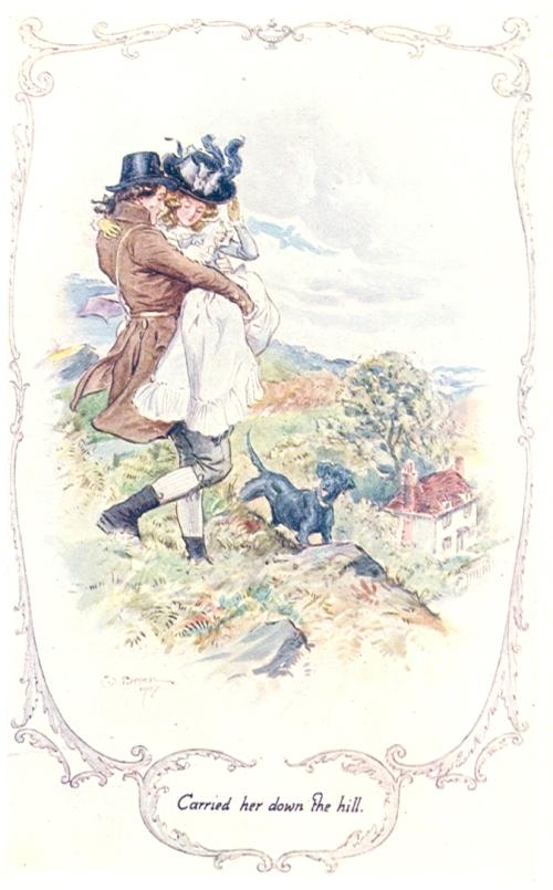 Illustration de C.E. Brock pour Raison et sentiments