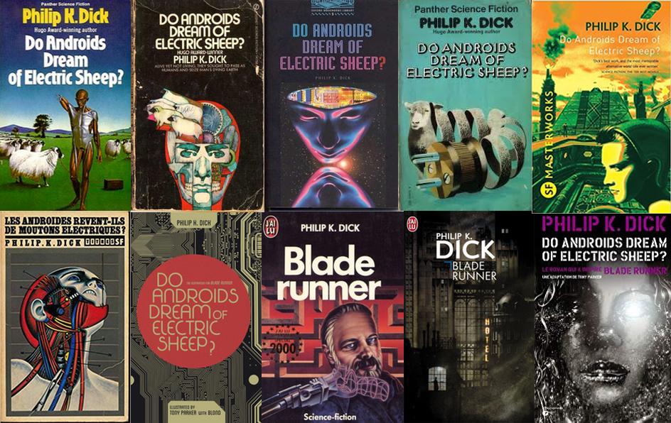 Série de couvertures du roman en français et en anglais